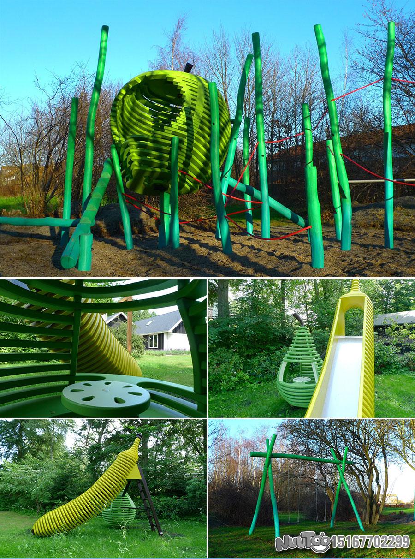 Non-standard amusement + personalized playground + amusement equipment + rides + outdoor children's play facilities _04