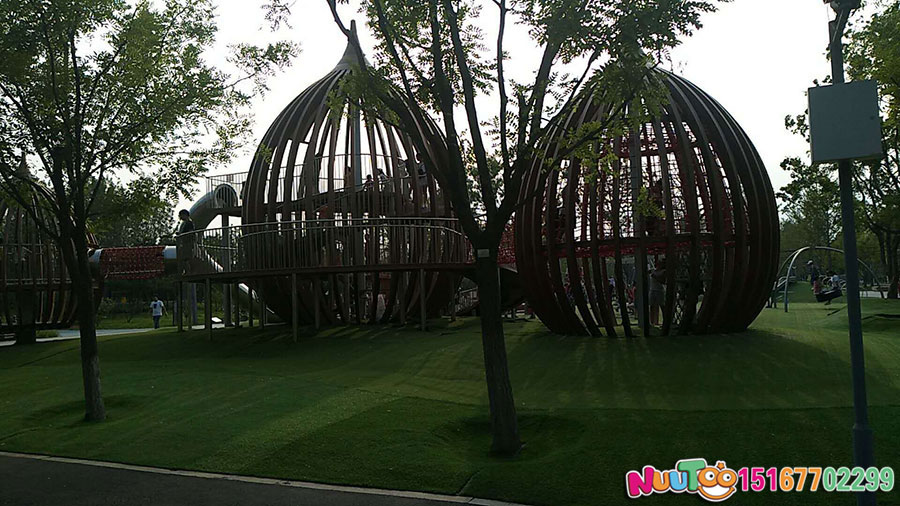 Walnut Paradise + non-standard ride + combination slide + play equipment - (4)