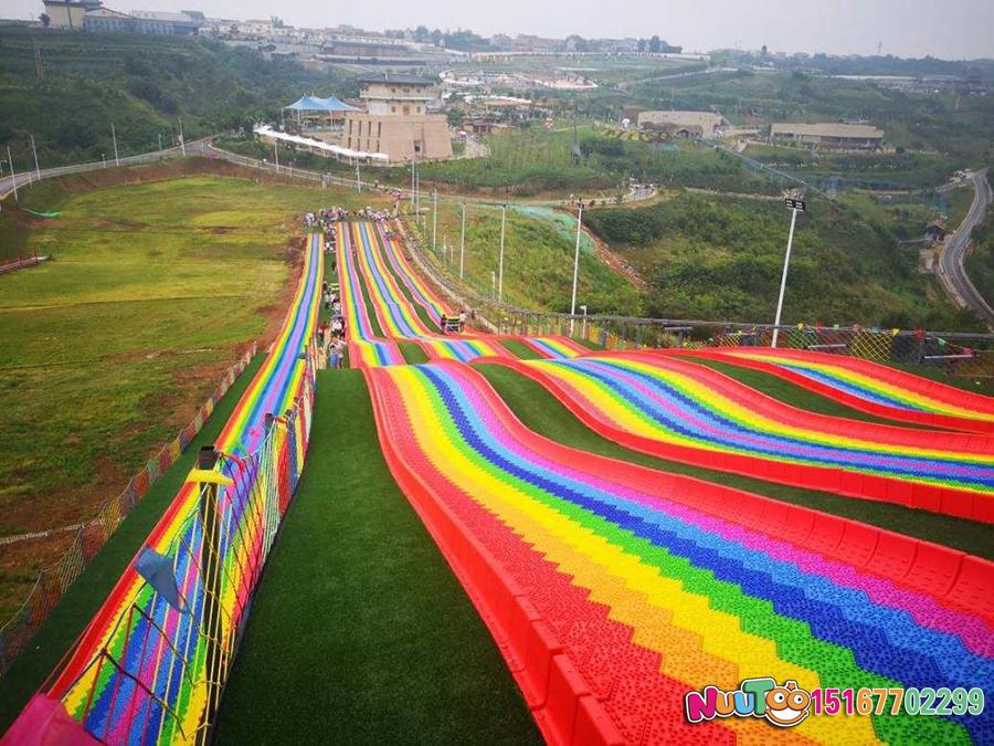 Colorful slides + colorful slides + dry snow slide + leap slide - (10)